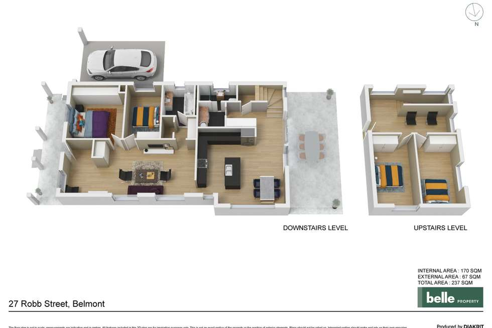 Floorplan of Homely house listing, 27 Robb Street, Belmont NSW 2280