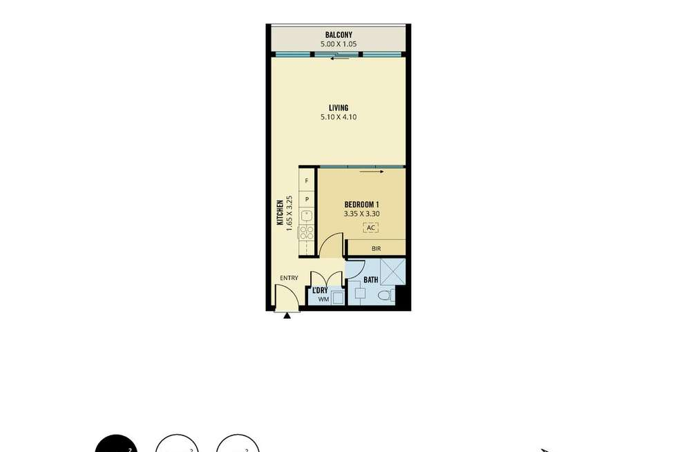 Floorplan of Homely apartment listing, 1609/160 Grote Street, Adelaide SA 5000