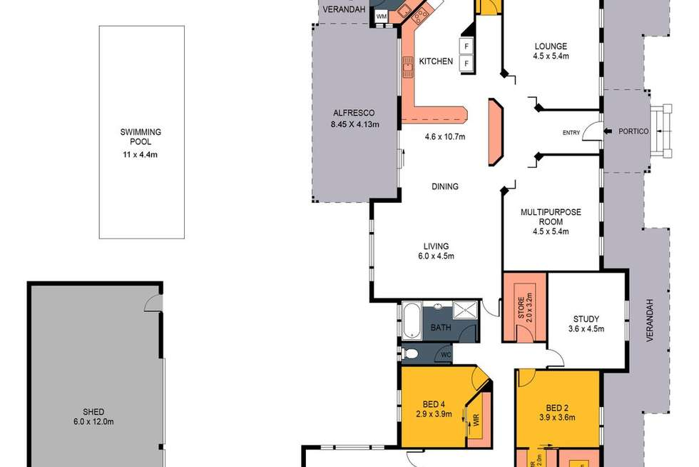 Floorplan of Homely house listing, 5 Ninnes Court, Maiden Gully VIC 3551