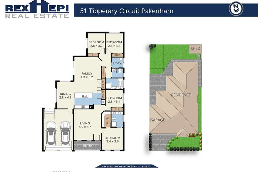 Floorplan of Homely house listing, 51 Tipperary Circuit, Pakenham VIC 3810