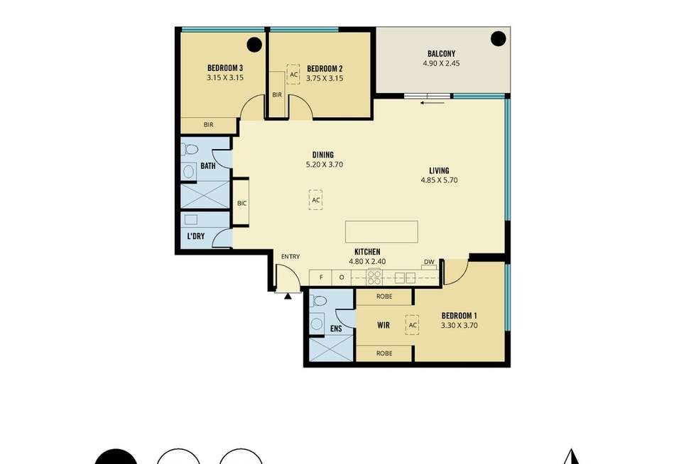 Floorplan of Homely apartment listing, 2506/19-27 Frome Street, Adelaide SA 5000