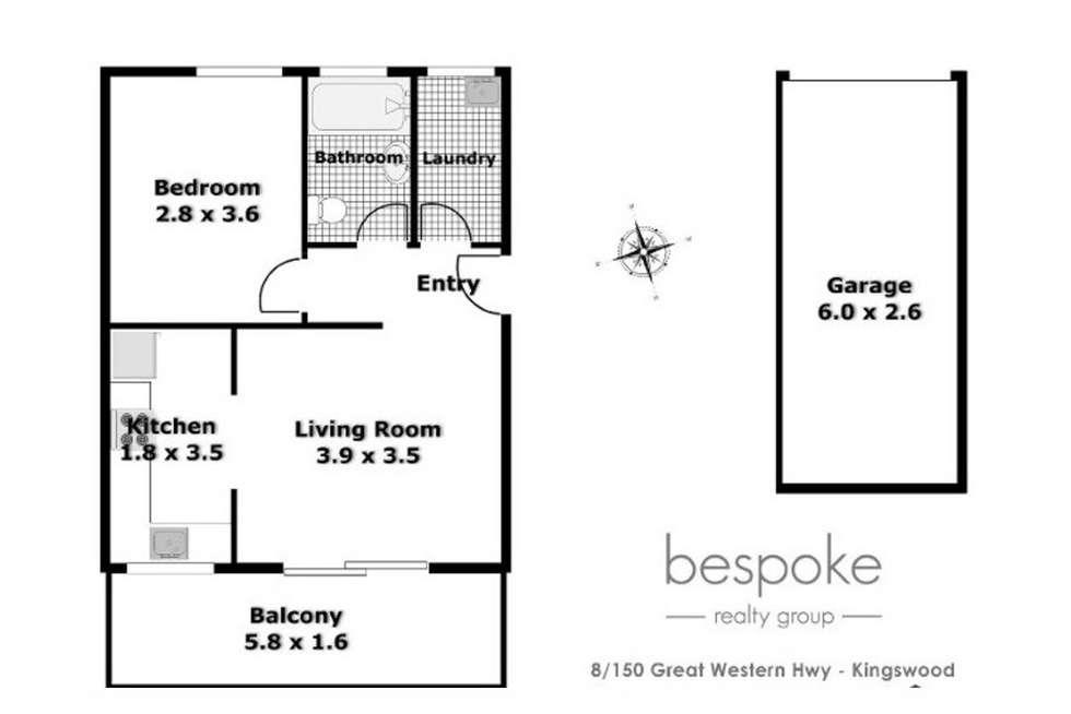 Floorplan of Homely unit listing, 8/150 Great Western Highway, Kingswood NSW 2747