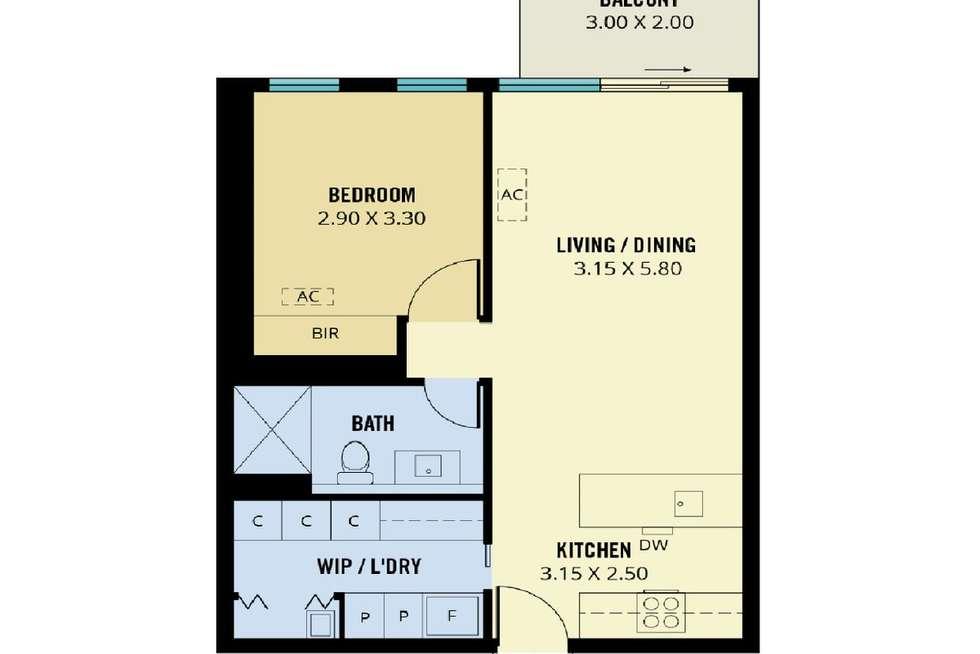 Floorplan of Homely apartment listing, 1602/29 Angas Street, Adelaide SA 5000