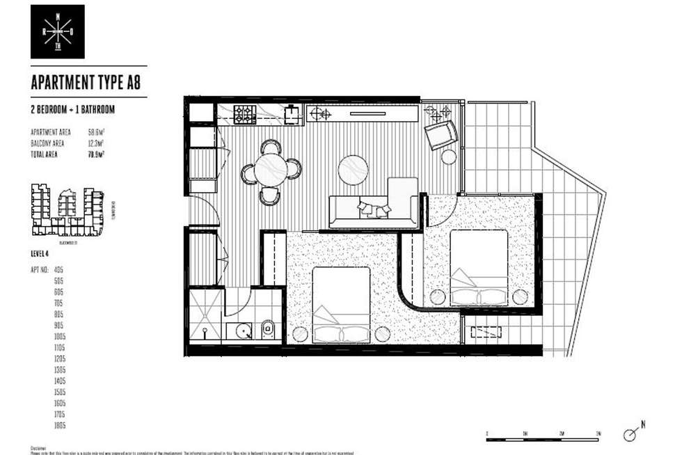 Floorplan of Homely apartment listing, 1005/33 Blackwood Street, North Melbourne VIC 3051