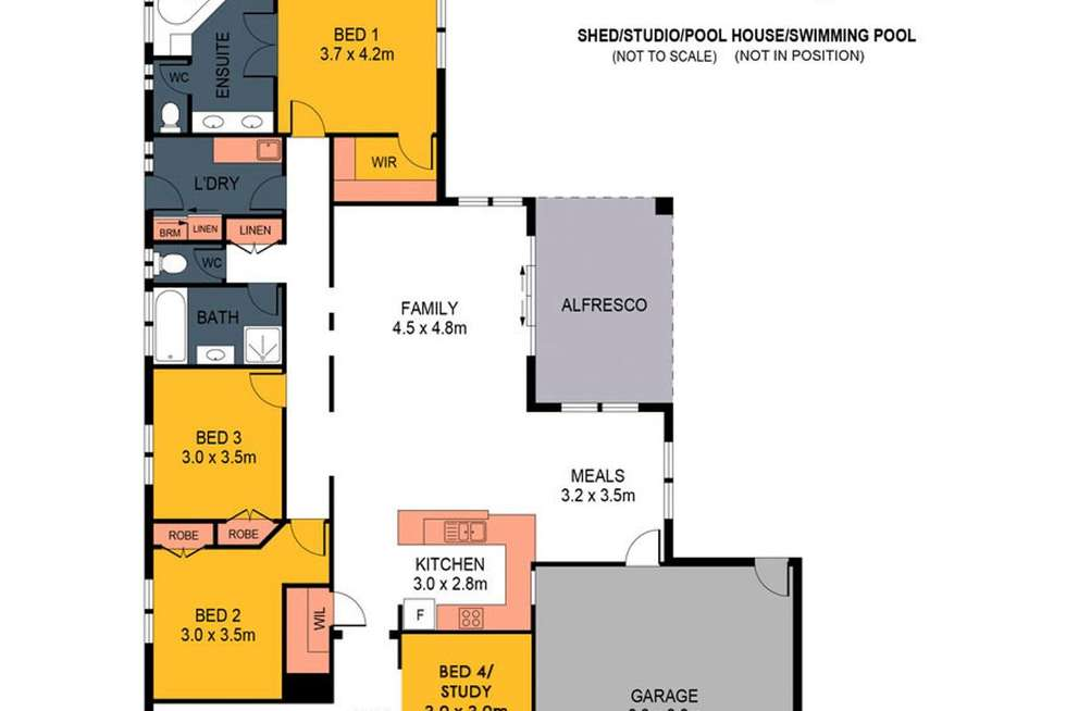 Floorplan of Homely house listing, 42 Glenelg Drive, Maiden Gully VIC 3551
