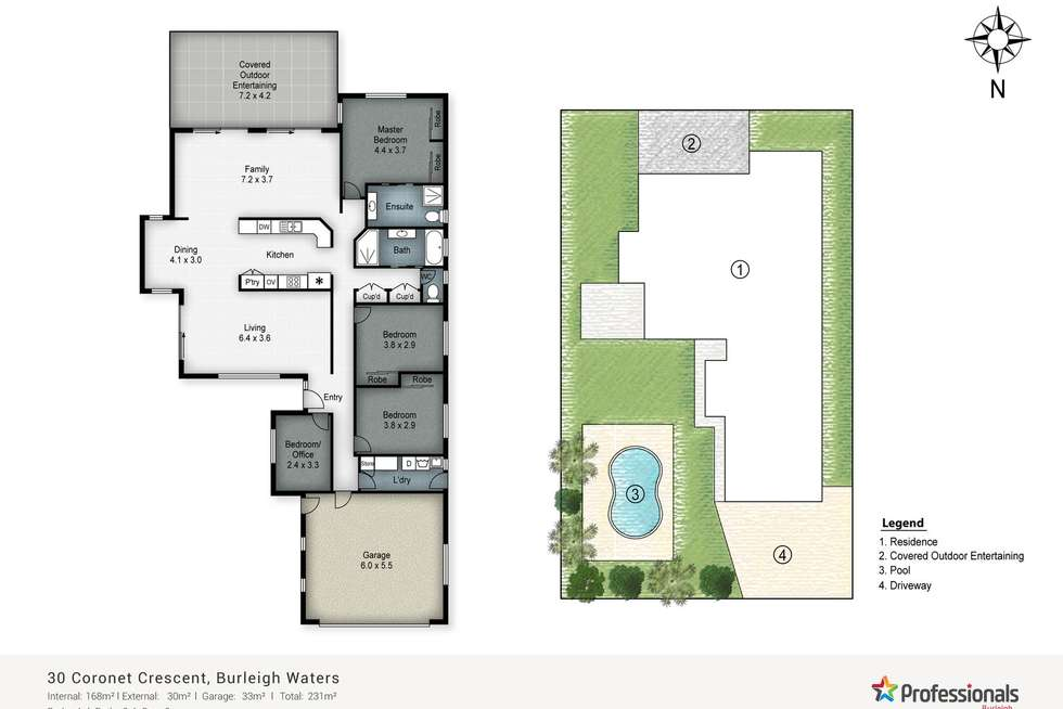 Floorplan of Homely house listing, 30 Coronet Crescent, Burleigh Waters QLD 4220