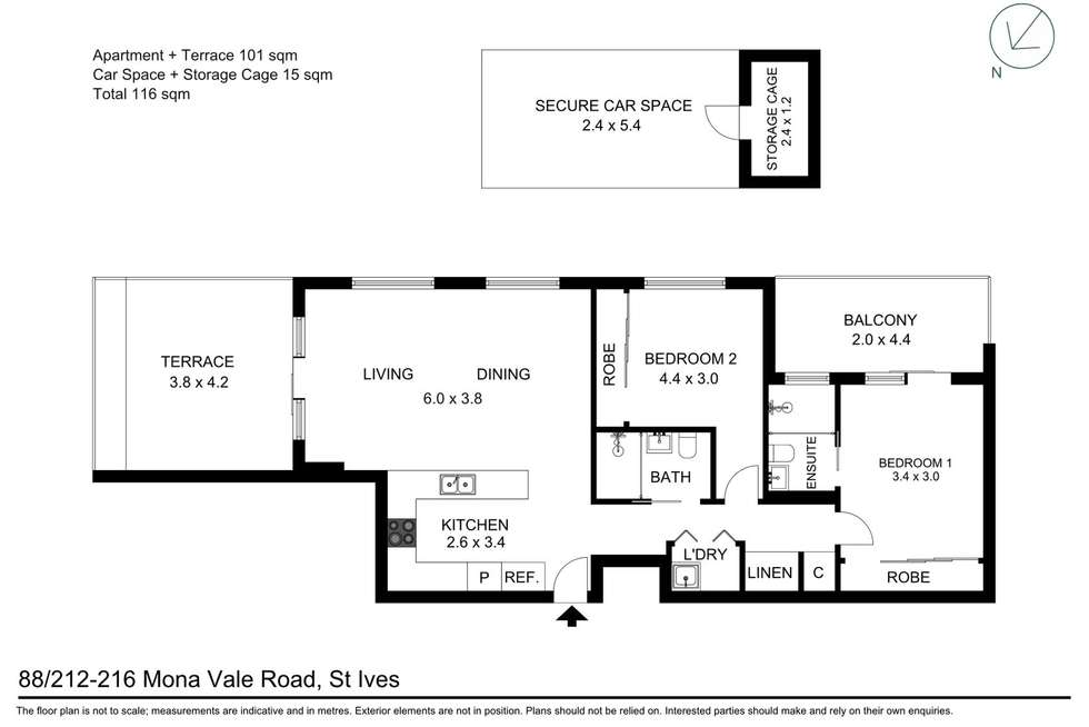 Floorplan of Homely apartment listing, 88/212-216 Mona Vale Road, St Ives NSW 2075