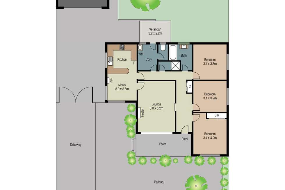 Floorplan of Homely house listing, 54 Glengala Road, Sunshine West VIC 3020