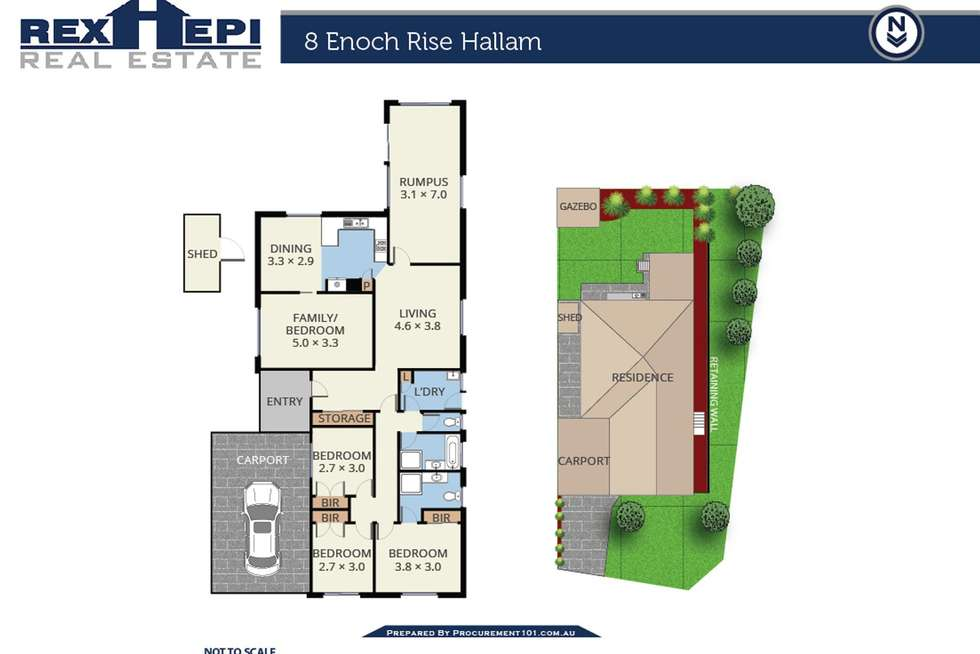 Floorplan of Homely house listing, 8 Enoch Rise, Hallam VIC 3803