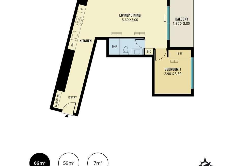 Floorplan of Homely apartment listing, 301/248 Flinders Street, Adelaide SA 5000
