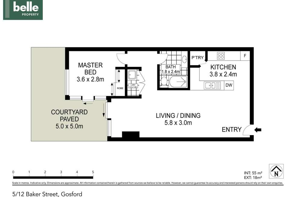 Floorplan of Homely apartment listing, 5/12 Baker Street, Gosford NSW 2250