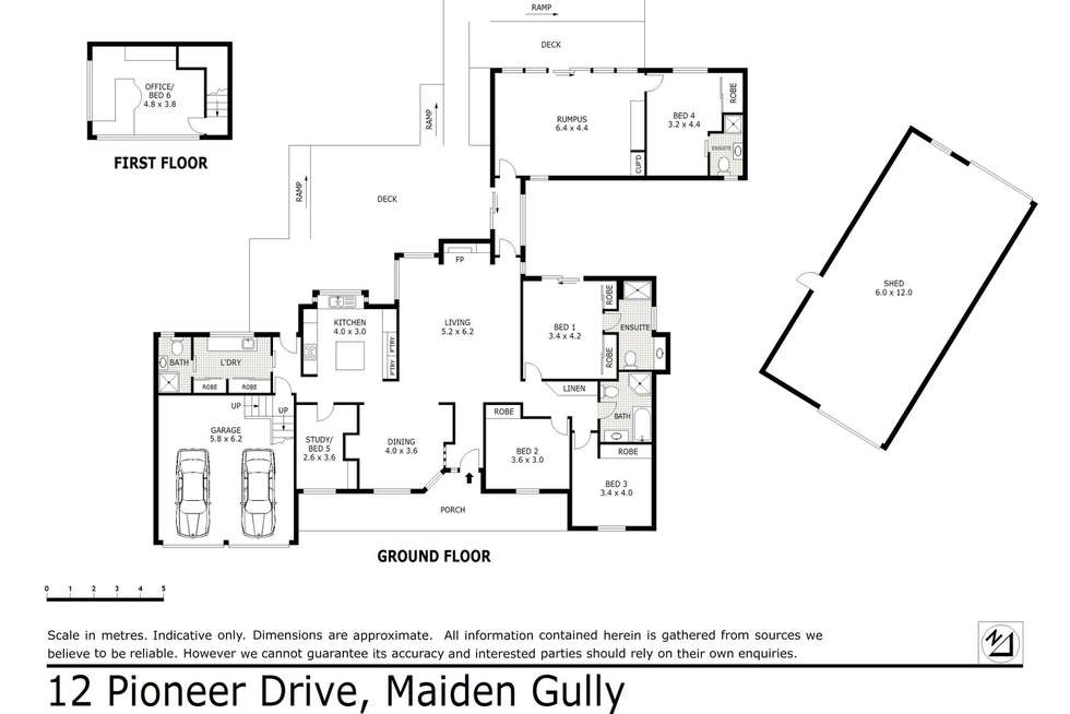 Floorplan of Homely house listing, 12 Pioneer Drive, Maiden Gully VIC 3551
