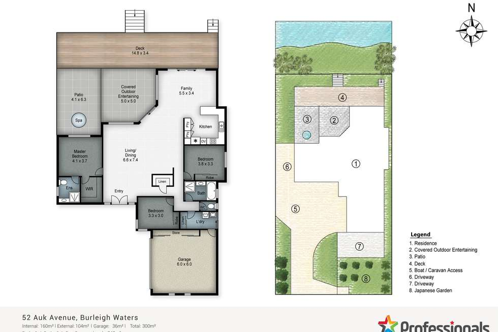 Floorplan of Homely house listing, 52 Auk Avenue, Burleigh Waters QLD 4220
