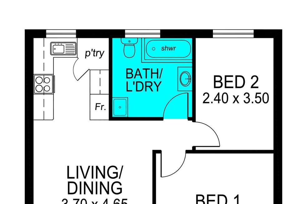 Floorplan of Homely unit listing, 23/176 Tapleys Hill Road, Royal Park SA 5014