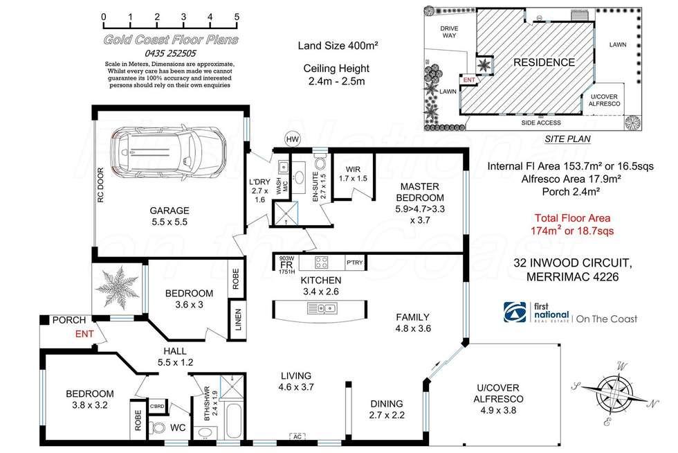 Floorplan of Homely house listing, 32 Inwood Circuit, Merrimac QLD 4226