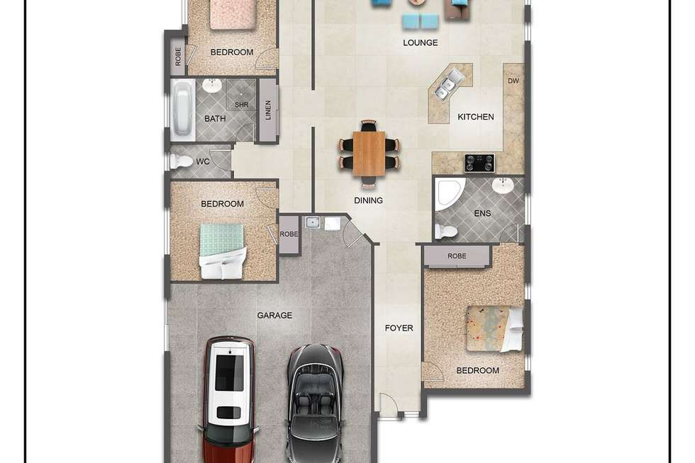 Floorplan of Homely house listing, 42 Griffen Place, Crestmead QLD 4132