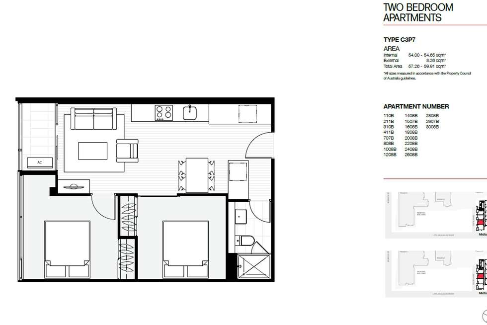 Floorplan of Homely apartment listing, 1507B/11 Rose Lane, Melbourne VIC 3000