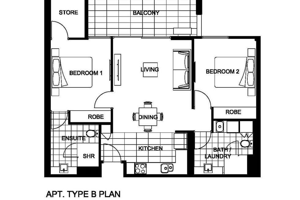 Floorplan of Homely apartment listing, 104/15 Aberdeen St, Perth WA 6000