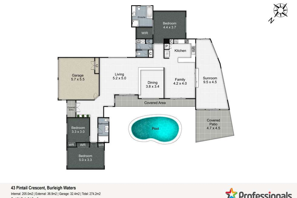 Floorplan of Homely house listing, 43 Pintail Crescent, Burleigh Waters QLD 4220