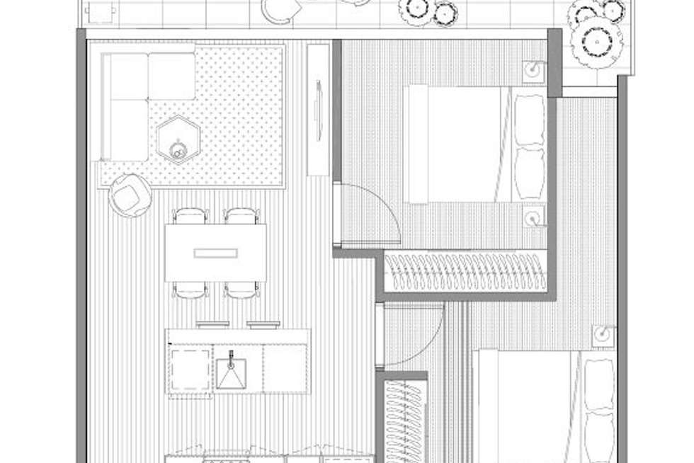 Floorplan of Homely apartment listing, 303/140 Dudley Street, West Melbourne VIC 3003