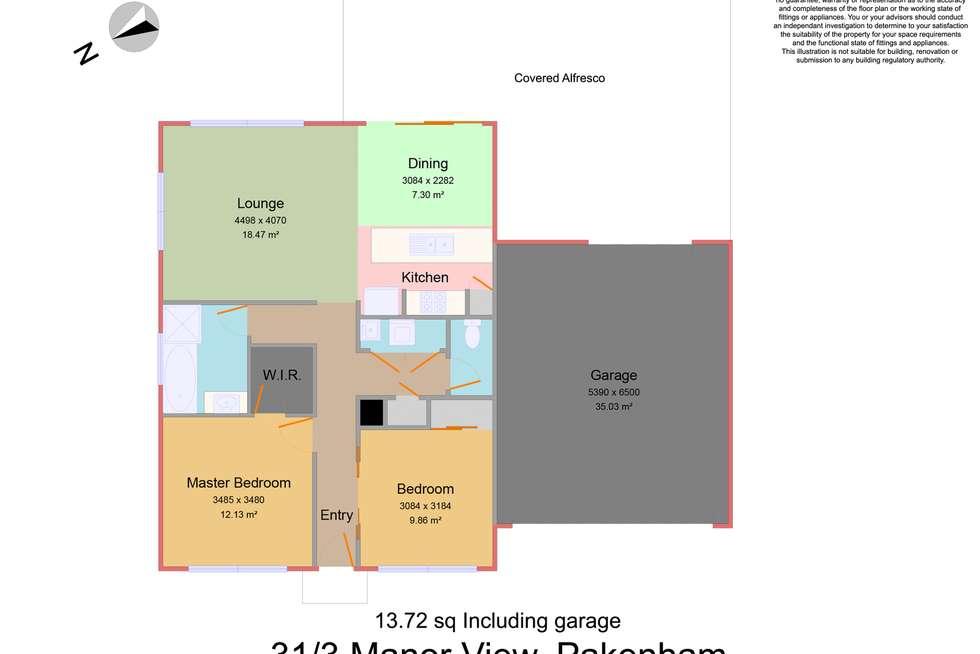 Floorplan of Homely unit listing, 31/3 Manor View, Pakenham VIC 3810