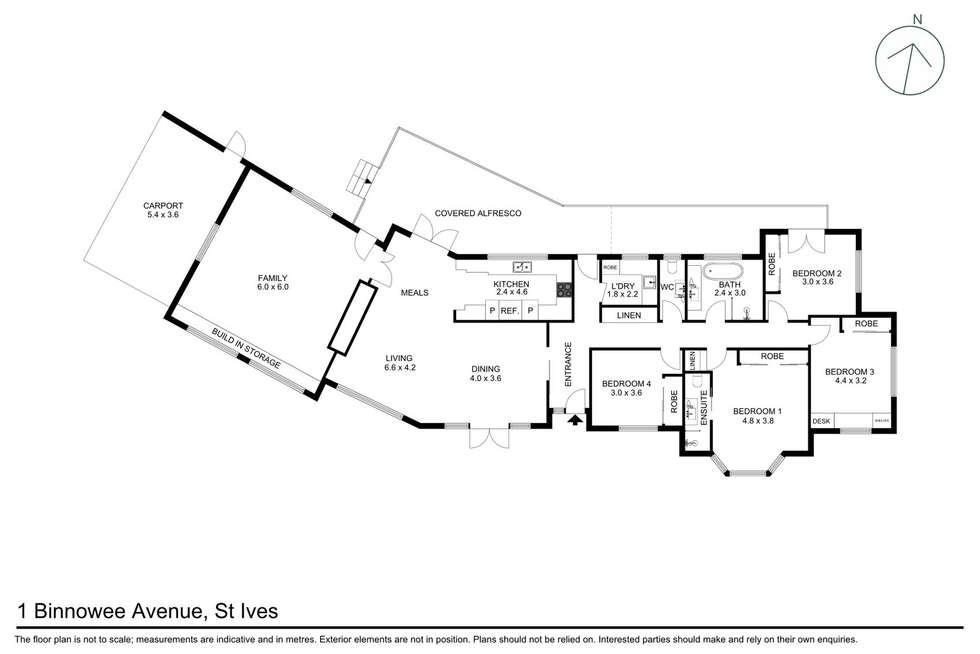 Floorplan of Homely house listing, 1 Binnowee Ave, St Ives NSW 2075