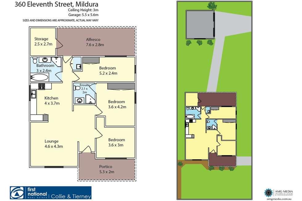 Floorplan of Homely house listing, 360 Eleventh Street, Mildura VIC 3500