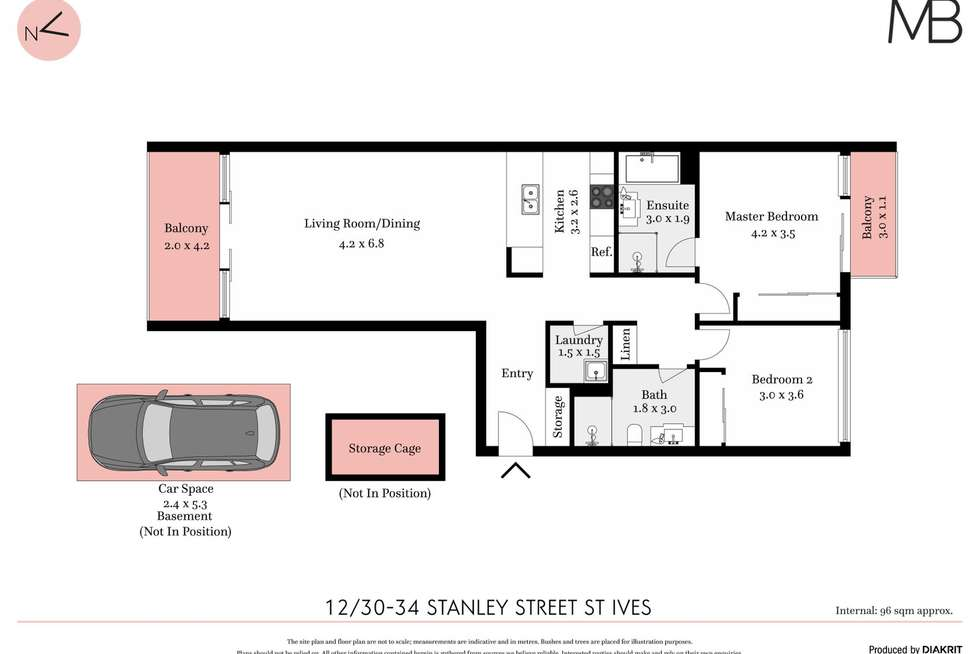 Floorplan of Homely unit listing, 12/30-34 Stanley Street, St Ives NSW 2075