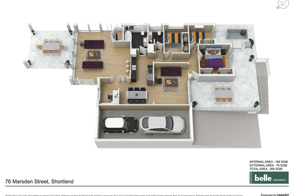Floorplan of Homely house listing, 76 Marsden Street, Shortland NSW 2307