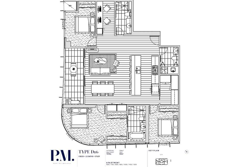 Floorplan of Homely apartment listing, 1205/300 Plummer Street, Port Melbourne VIC 3207