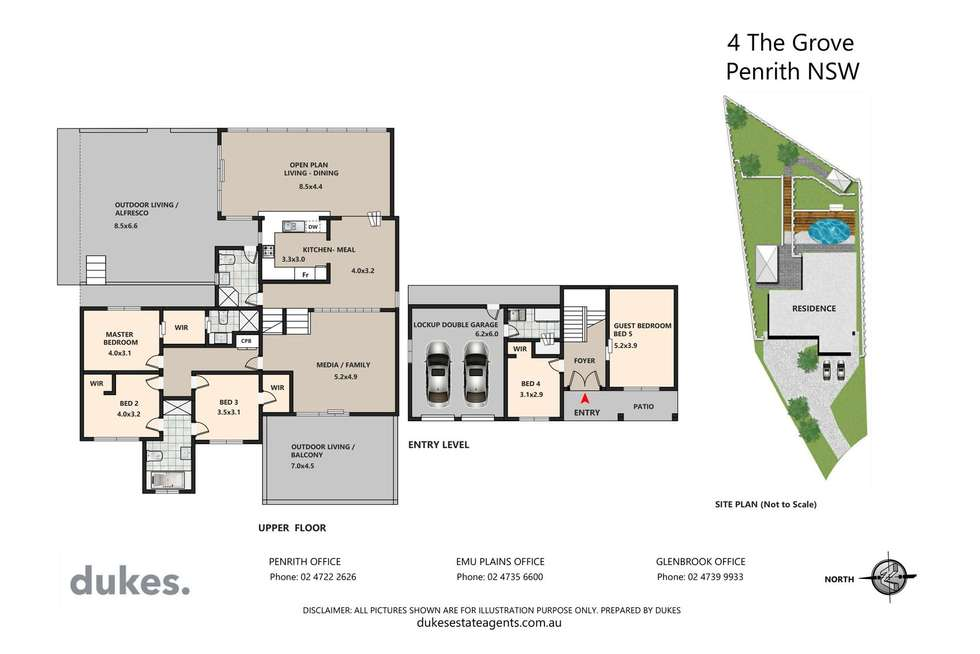 Floorplan of Homely house listing, 4 The Grove, Penrith NSW 2750
