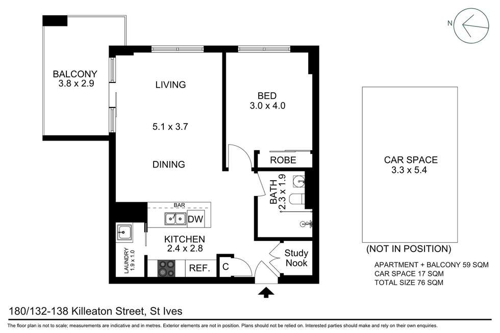 Floorplan of Homely apartment listing, C180/132-138 Killeaton Street, St Ives NSW 2075