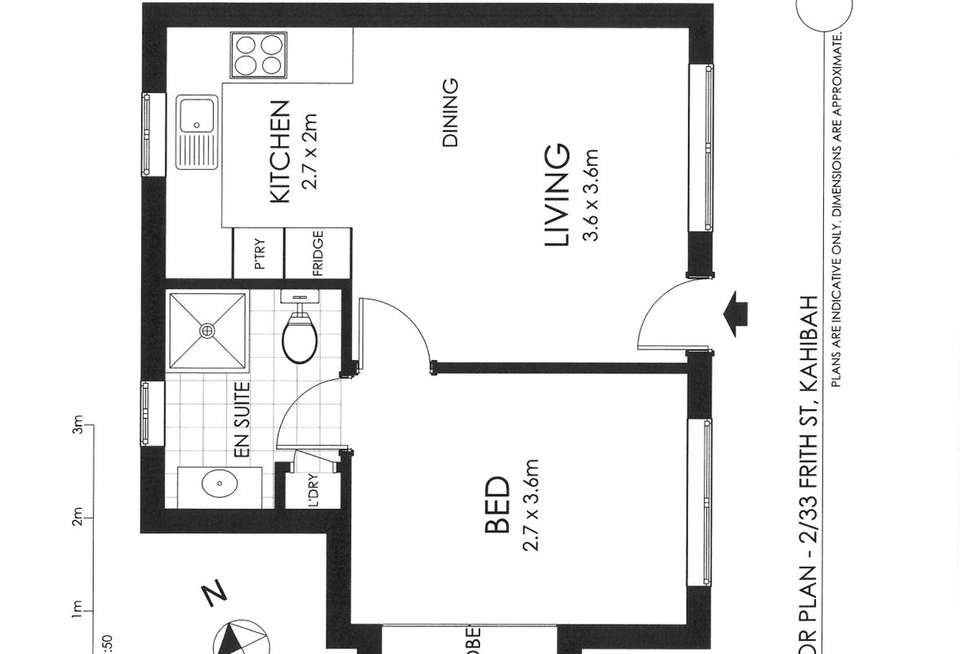Floorplan of Homely unit listing, 2/33 Frith Street, Kahibah NSW 2290