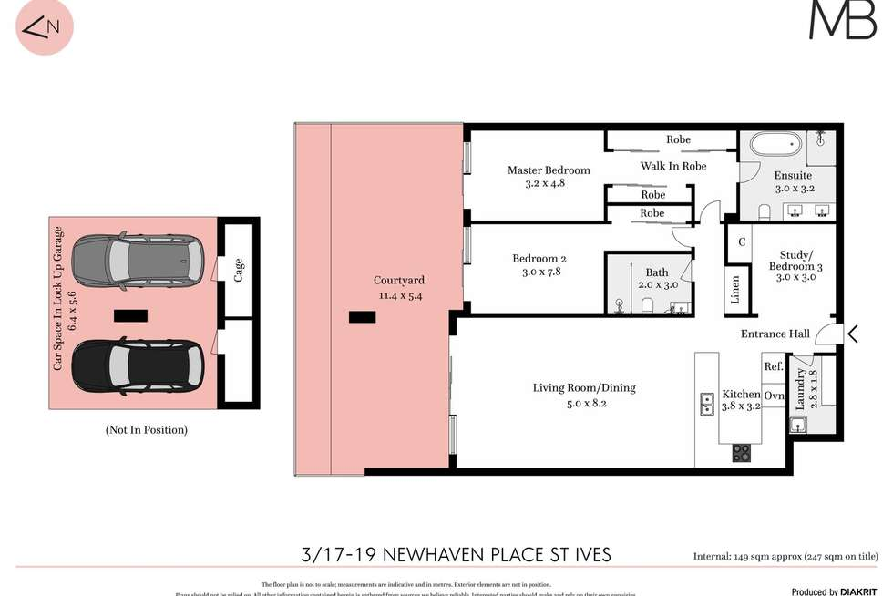 Floorplan of Homely apartment listing, 3/17-19 Newhaven Place, St Ives NSW 2075
