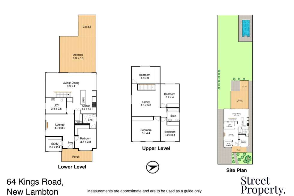 Floorplan of Homely house listing, 64 Kings Road, New Lambton NSW 2305