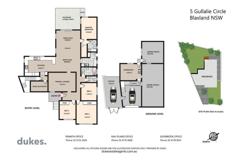 Floorplan of Homely house listing, 5 Gullalie Circle, Blaxland NSW 2774