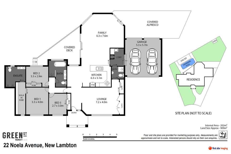 Floorplan of Homely house listing, 22 Noela Avenue, New Lambton NSW 2305