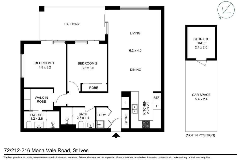 Floorplan of Homely apartment listing, 72/212-216 Mona Vale Road, St Ives NSW 2075
