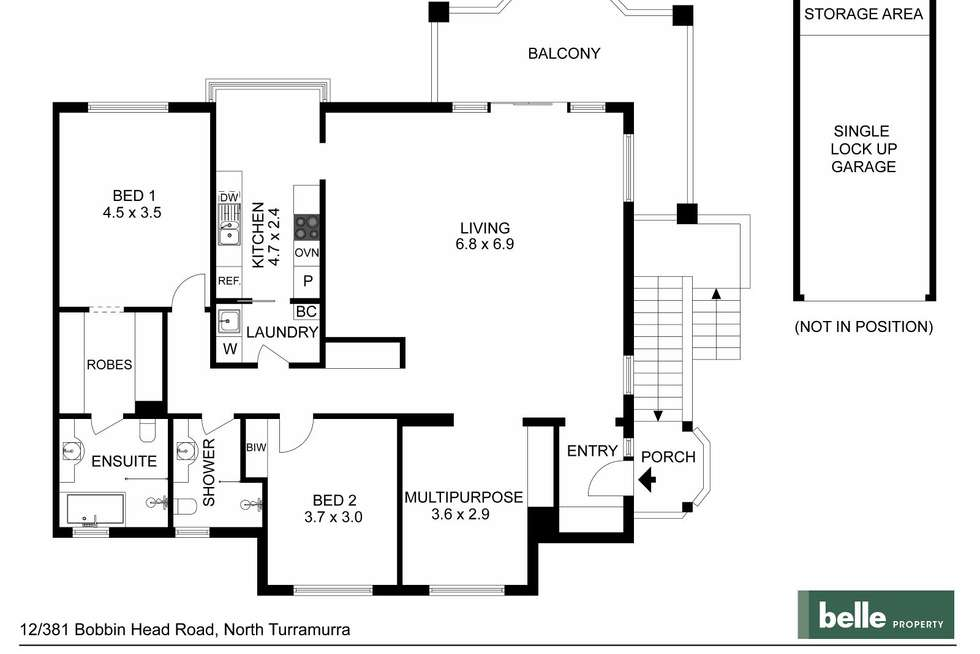 Floorplan of Homely apartment listing, 12/381 Bobbin Head Road, Turramurra NSW 2074