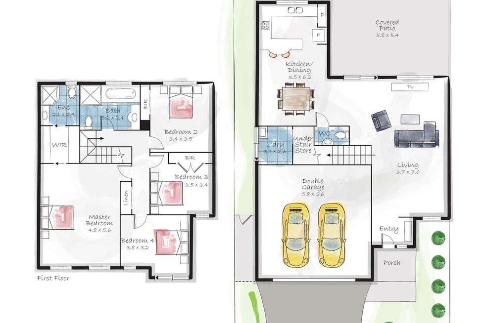 Floorplan of Homely house listing, 16 Kensington Place, Mardi NSW 2259
