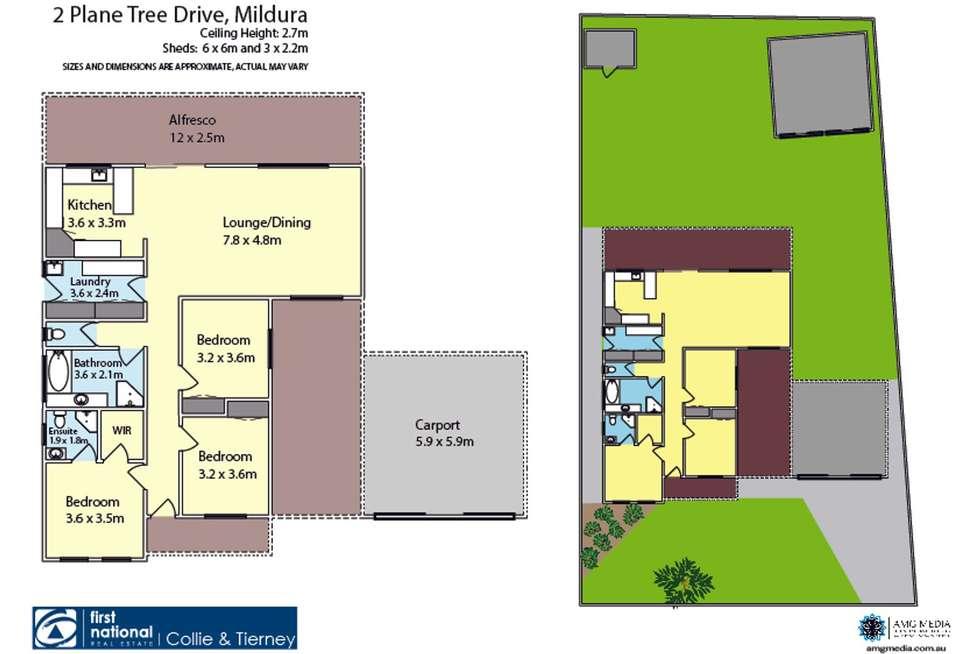 Floorplan of Homely house listing, 2 Plane Tree Drive, Mildura VIC 3500