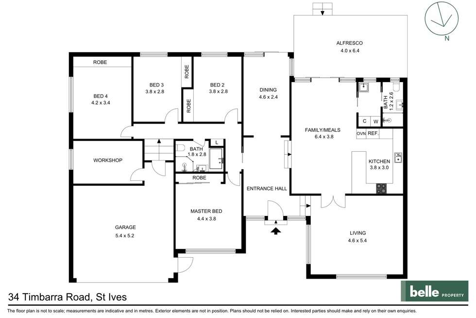 Floorplan of Homely house listing, 34 Timbarra Road, St Ives NSW 2075