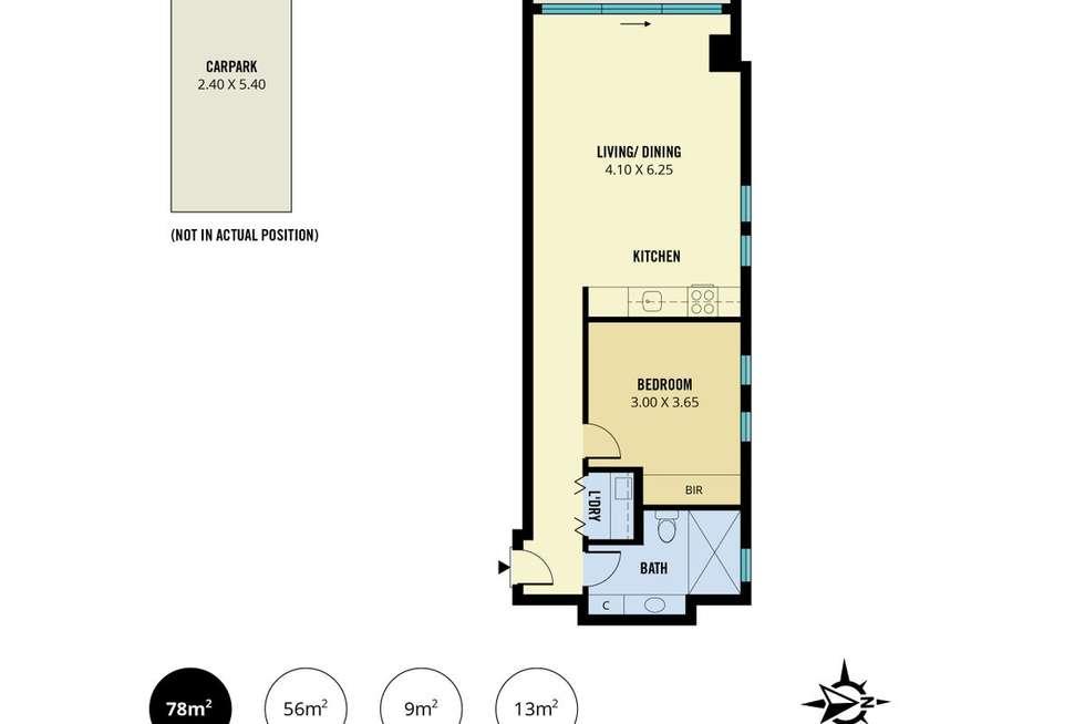 Floorplan of Homely apartment listing, 807/10 Balfours Way, Adelaide SA 5000