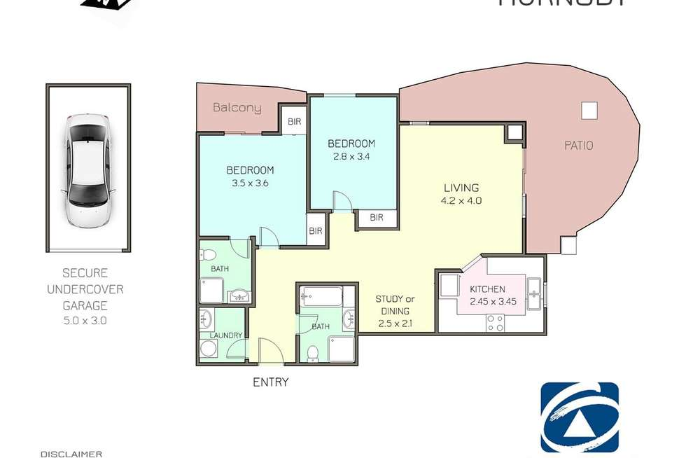 Floorplan of Homely apartment listing, 2/33-37 Linda Street, Hornsby NSW 2077