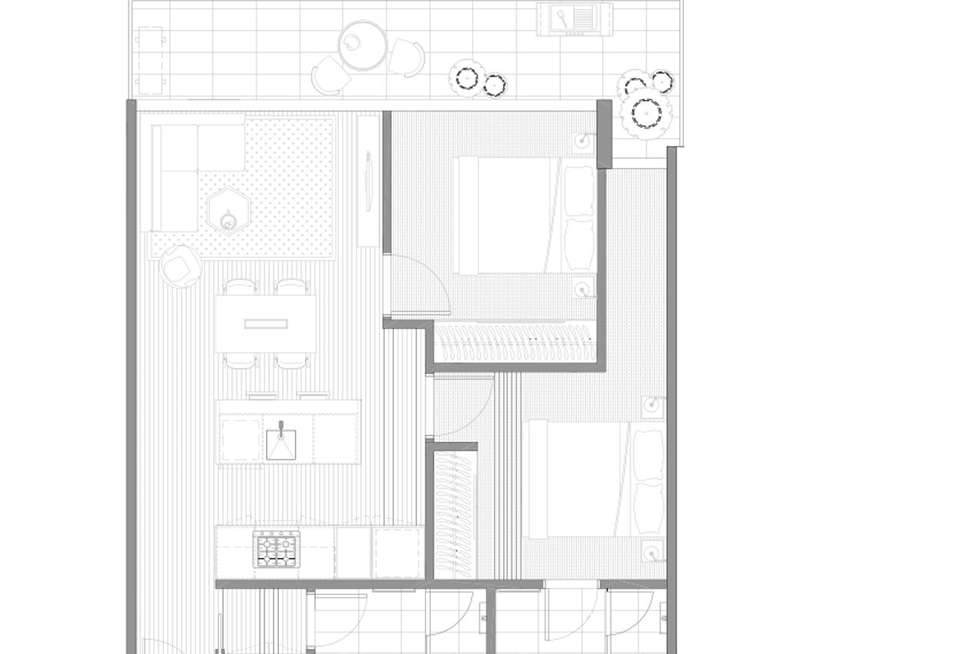 Floorplan of Homely apartment listing, 303/130 Dudley Street, West Melbourne VIC 3003