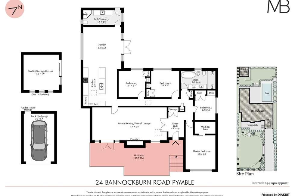 Floorplan of Homely house listing, 24 Bannockburn Road, Pymble NSW 2073