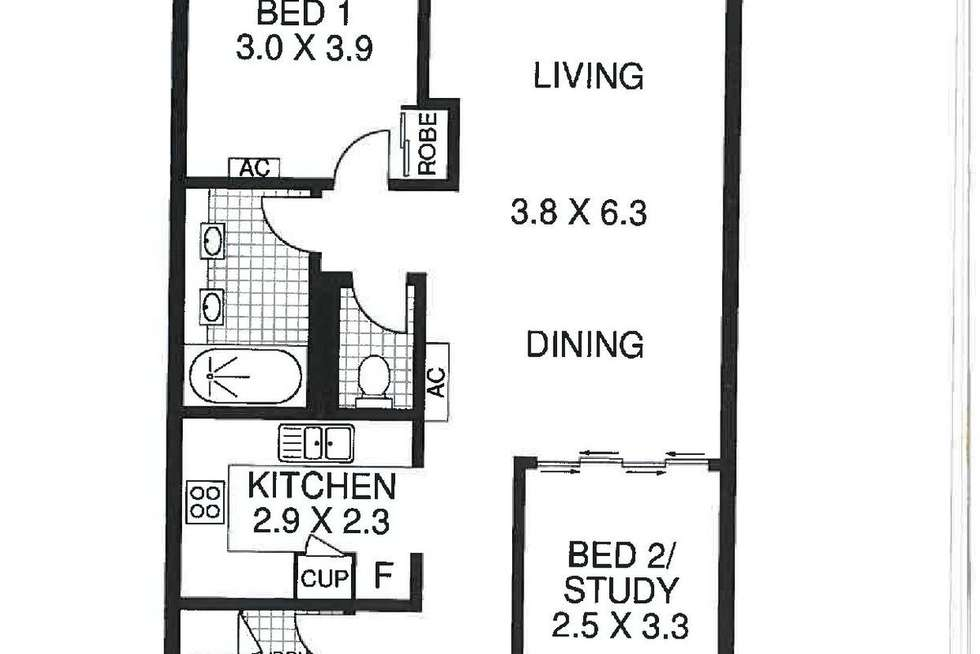 Floorplan of Homely unit listing, 615/12-21 Gregory Street, Westcourt QLD 4870