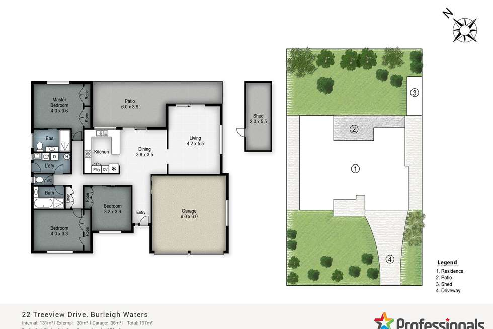 Floorplan of Homely house listing, 22 Treeview Drive, Burleigh Waters QLD 4220
