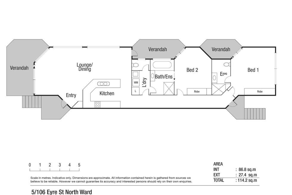 Floorplan of Homely apartment listing, 5/106 Eyre Street, North Ward QLD 4810