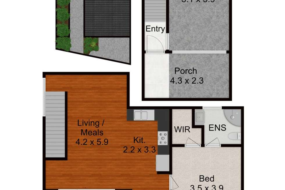 Floorplan of Homely apartment listing, Unit 3/3 Bairin Street, Campbelltown NSW 2560